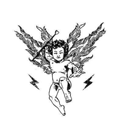 anjo preto raios